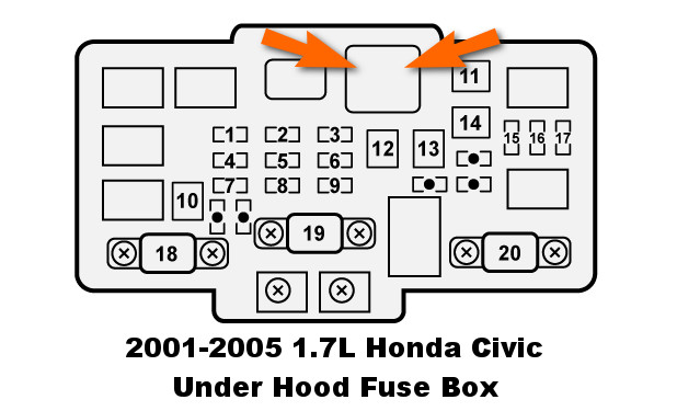 2006 Honda Civic Under Hood Fuse Box : Blower motor relay bench test l honda civic