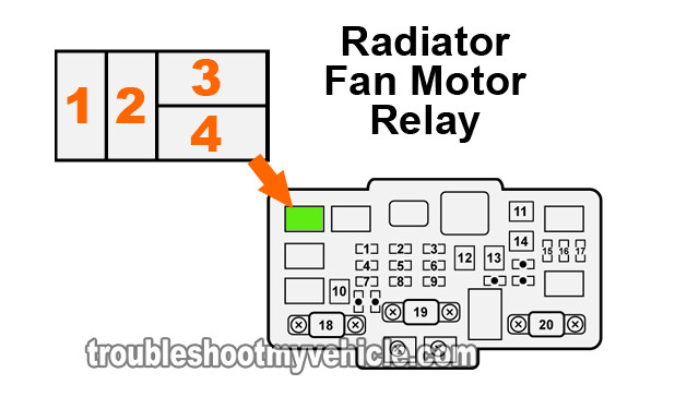 part 2 radiator fan relay test  2001 2005 1 7l honda civic