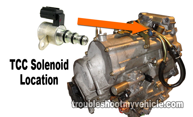 Part 1 how to test the tcc solenoid 2001 2005 1 7l honda for Honda transmission solenoid symptoms