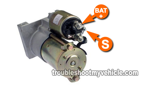 Part 1 How To Test The Starter Motor Gm 43l 50l 57lrhtroubleshootmyvehicle: 2004 Gmc Safari Starter Location At Gmaili.net
