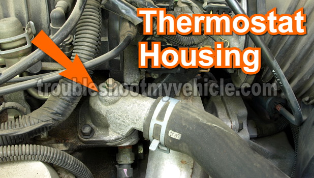 Part 1 How To Test The Thermostat Gm 38l V6rhtroubleshootmyvehicle: Buick Lucerne Thermostat Location At Gmaili.net