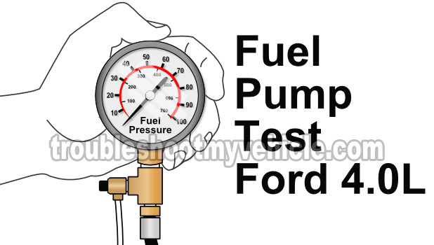 Part 1 How To Test The Fuel Pump Ford 4 0l