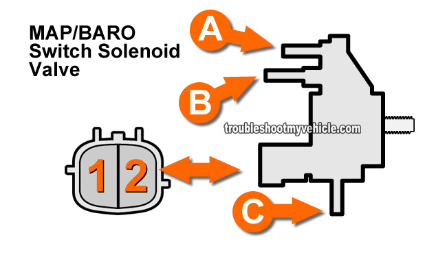 How To Test MAP/BARO Switch Solenoid Valve (3.3L, 3.5L Nissan Pathfinder- 1996, 1997, 1998, 1999, 2000, 2001, 2002, 2003, 2004)