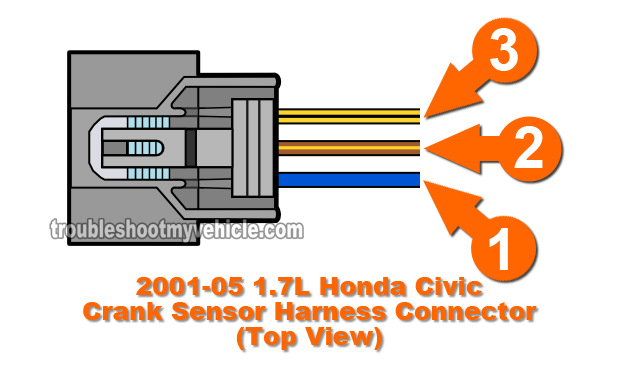 part 1 how to test the crank sensor (2001 2005 1 7l honda civic) Heat Sensor Diagram crankshaft position sensor circuit descriptions