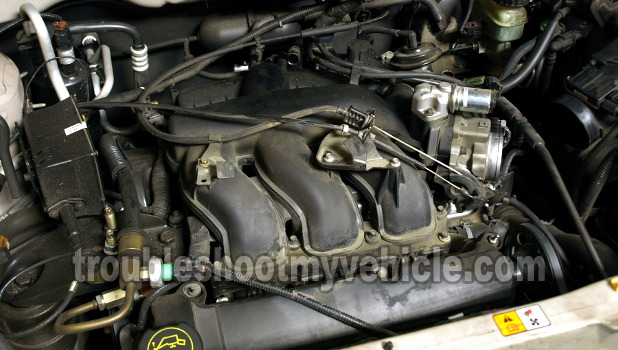 Intake Manifold Plenum Has to be Removed to Test Compression on Cylinder 1, 2, and 3 (3.0L Ford Escape)