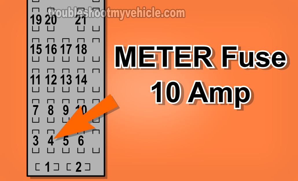 Checking The METER Fuse. How To Test The Alternator (1998-2002 2.0L Mazda 626)