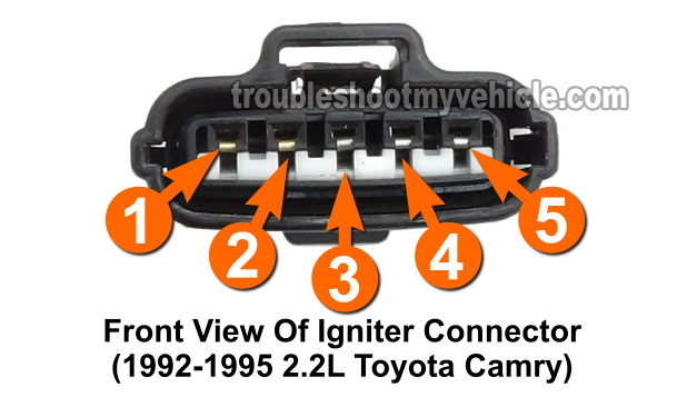 igniter connector circuit descriptions -1992, 1993, 1994, 1995 2 2l toyota  camry