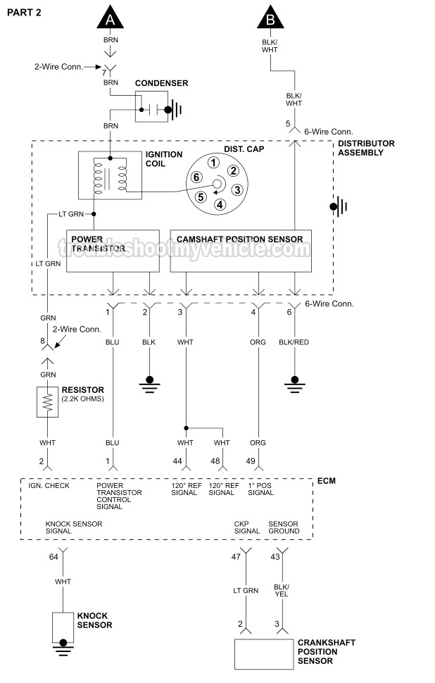 Part 1 -Ignition System Wiring Diagram (1999-2002 3.3L Nissan Quest)troubleshootmyvehicle.com