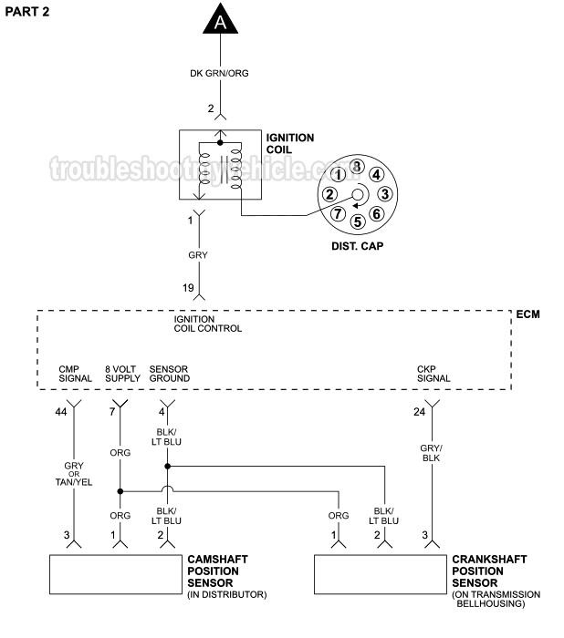 Ignition System Wiring Diagram (1992-1993 5.2L V8 Dodge ... on